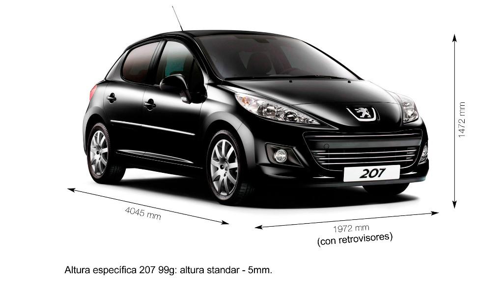 foto peugeot 207 imagen dimensiones automovil coche. Black Bedroom Furniture Sets. Home Design Ideas