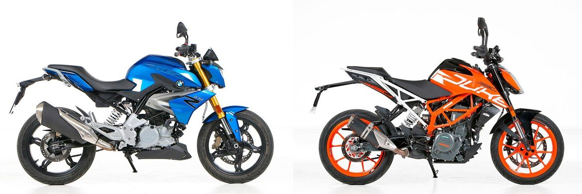 Comparativa <br> BMW G 310 R <br> KTM 390 DUKE