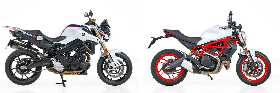 Comparativa <br> BMW F 800 R<br> DUCATI MONSTER 797