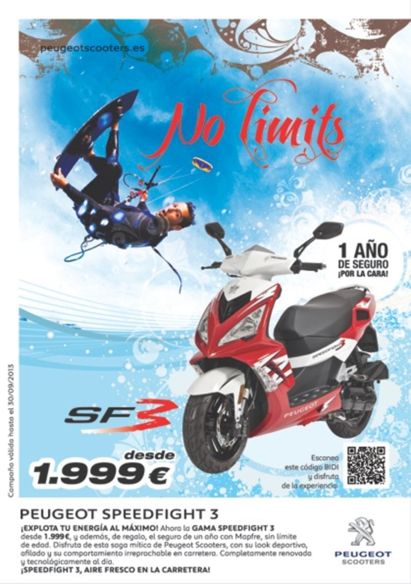 Campaña seguro de regalo Speedfight 3, 'No limits'