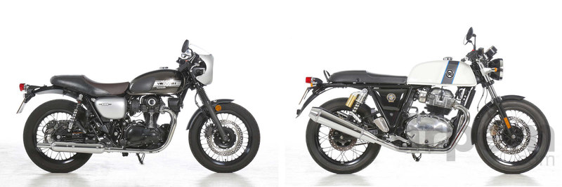 Comparativa Kawasaki W800 Cafe & Royal Enfield Continental GT 650