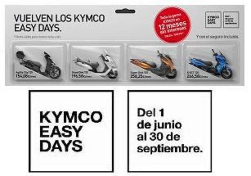 Kymco Easy Days, campaña de financiación, 12 meses sin intereses