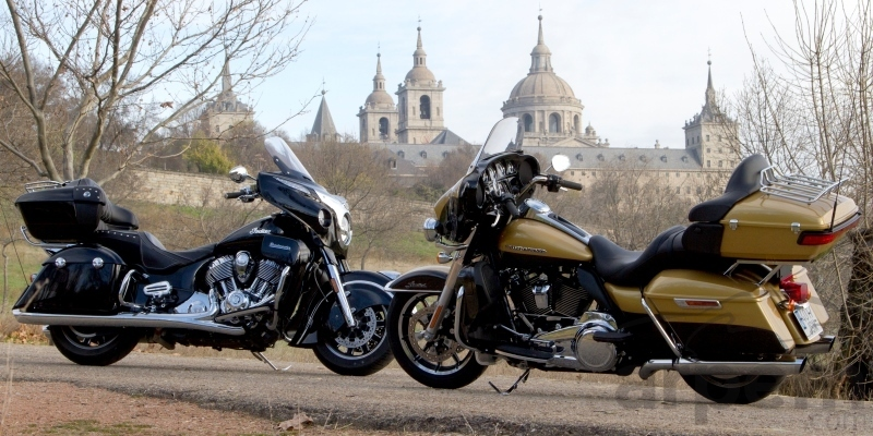 Comparativa Indian Roadmaster & Harley-Davidson Road Glide Ultra