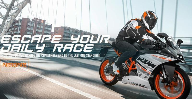 """Escape your daily race"" concurso fotográfico de KTM"