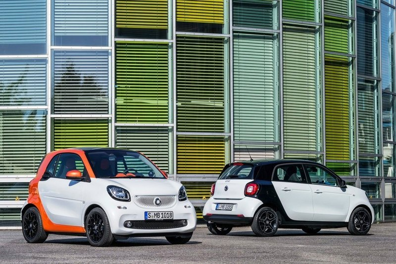 Nuevos smart fortwo y smart forfour 2015