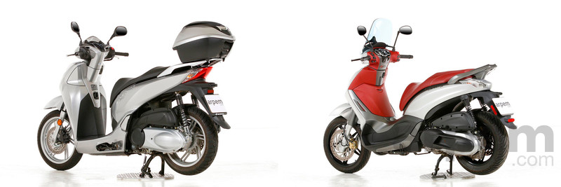 Comparativa Honda Scoopy SH300i ABS & Piaggio Beverly Sport Touring 350i ABS