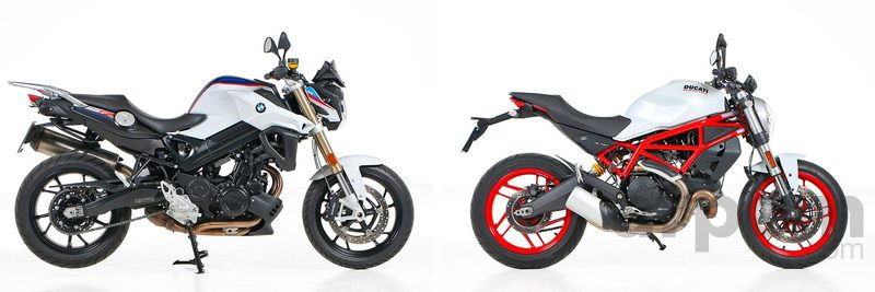 Comparativa BMW F 800 R & Ducati Monster 797