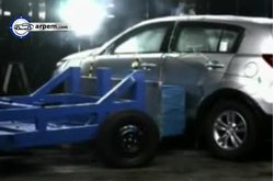 KIA Sportage Crash Test Interno