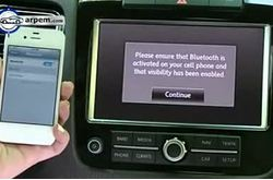 Video Volkswagen Touareg Bluetooth