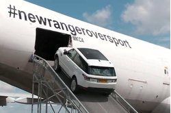 Video Range Rover Sporta bordo del Boeing 747