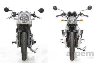 Comparativa <br> Kawasaki W800 Cafe & <br> Royal Enfield Continental GT 650