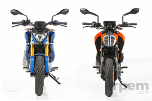 Comparativa <br> BMW G 310 R & <br> KTM 390 Duke
