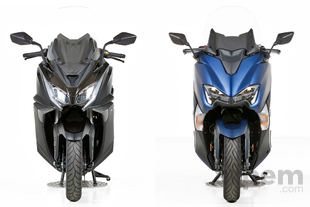 Comparativa <br> Kymco AK 550 & <br> Yamaha TMAX 530 DX