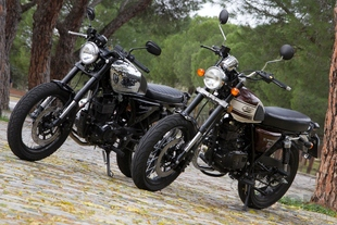 Pruebas de motos Comparativa <br> Hanway Raw 125 SR Chrome &<br> Mash Seventy Five 125