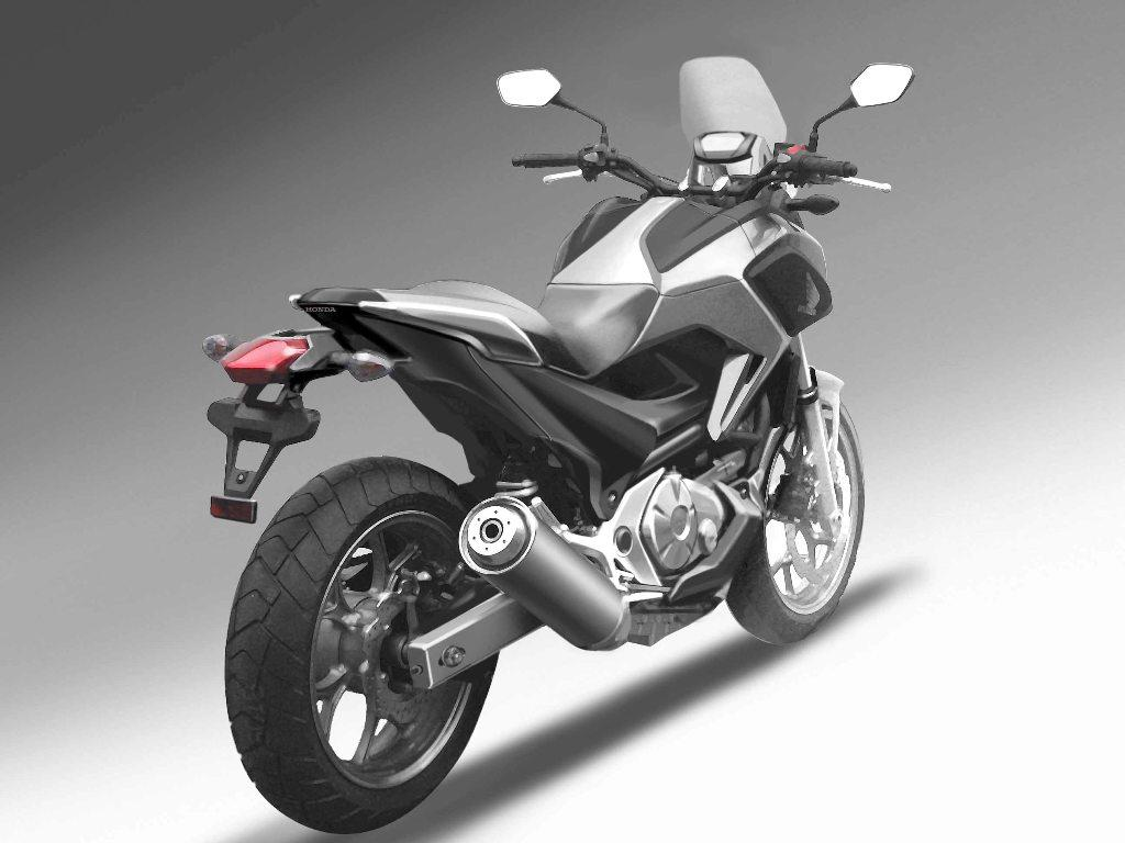 foto honda nc 700 x luz trasera motocicleta honda. Black Bedroom Furniture Sets. Home Design Ideas