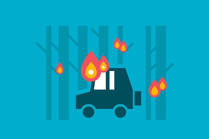 Análisis de casos: Cómo cubre el seguro del coche los daños por incendios forestales
