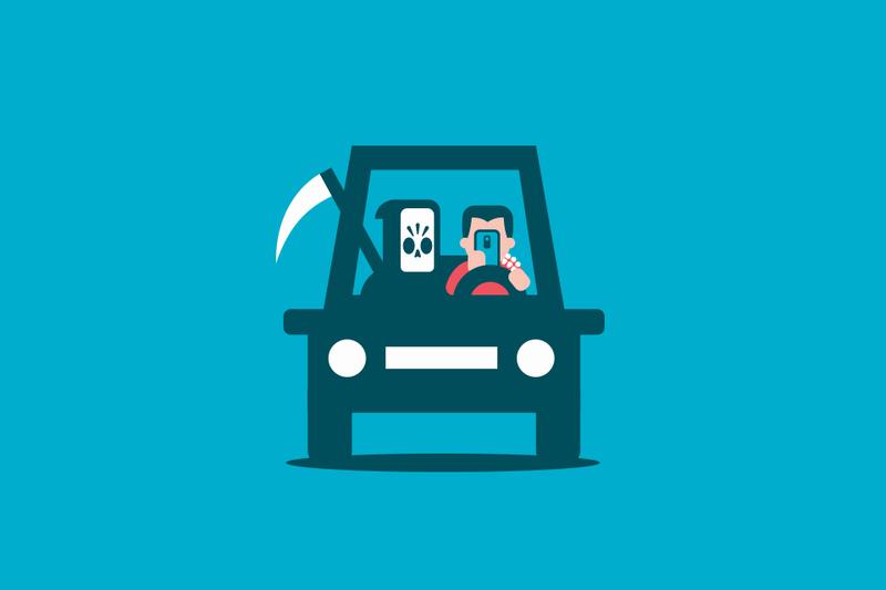 Tu seguro podría no cubrir los accidentes causados por el uso del móvil