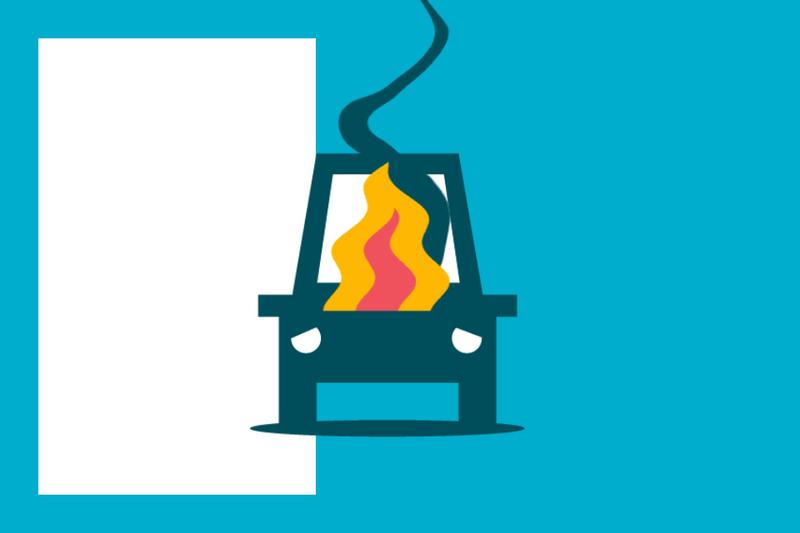 ¿Sabías que... pueden hacerte responsable del incendio de tu vehículo cuando está estacionado?