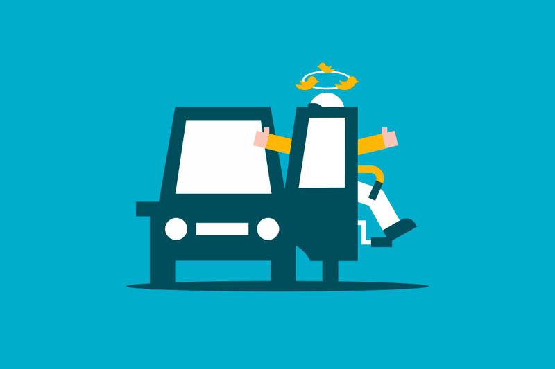 Golpe contra la puerta abierta de un coche, ¿de quién es la culpa?