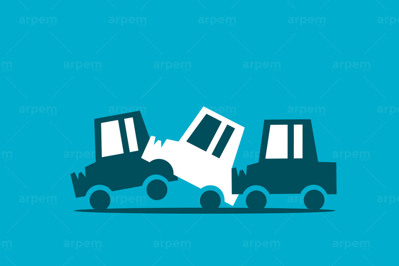 Accidente en cadena: ¿de quién es la culpa?
