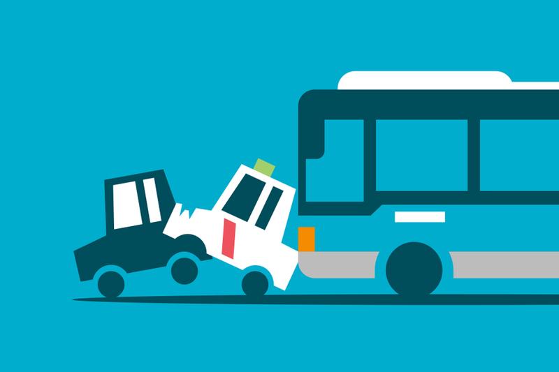 Accidente en el carril bus-taxi: ¿quién tiene la culpa?