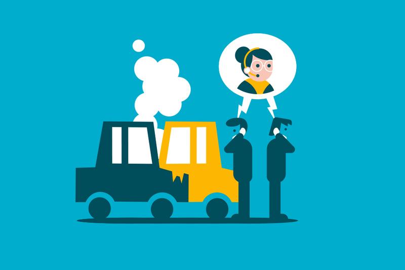 Accidente con otro vehículo de la misma compañía