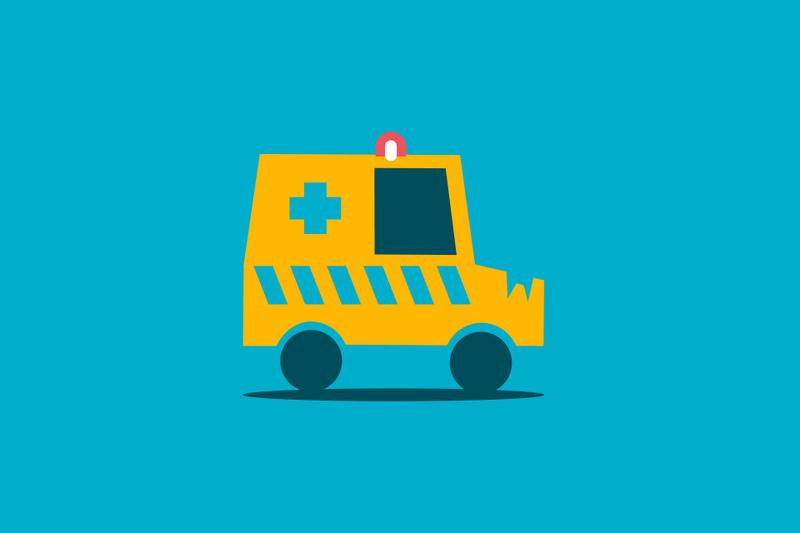 ¿Quién tiene la culpa cuando chocas contra una ambulancia?